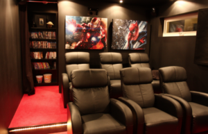 Christian, Stockholm – Home Theater with acoustic panels and broadband bass absorbers