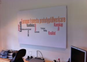 Word Cloud Acoustic Panel Unnaryd Modell AB